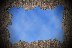 Muro de cimento quebrado Imagens de Stock Royalty Free
