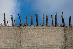 Muro de cimento reforçado Imagens de Stock Royalty Free