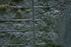 Muro de cimento velho com encaixes Foto de Stock Royalty Free
