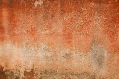Muro de cimento velho do vermelho do vintage Imagens de Stock