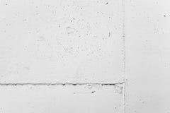 Muro di cemento bianco con gesso, struttura del fondo Fotografia Stock