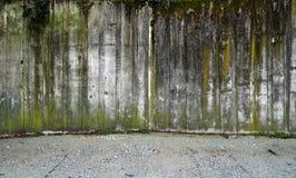 Muro di cemento con ghiaia Immagini Stock Libere da Diritti