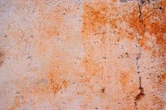 Muro di cemento con i punti arancio Fotografia Stock