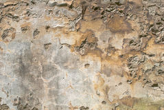 Muro di cemento con il fondo di struttura scheggiato vecchio gesso Fotografia Stock Libera da Diritti