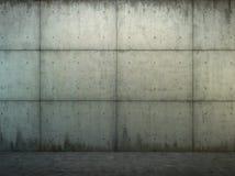Muro di cemento di Grunge e primo piano del pavimento Immagini Stock Libere da Diritti