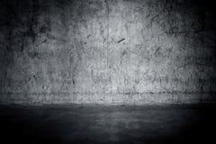 Muro di cemento e pavimento Grungy Immagine Stock