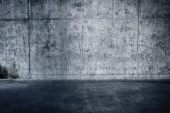 Muro di cemento e pavimento Grungy Fotografia Stock