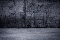 Muro di cemento e pavimento Grungy come fondo Fotografie Stock