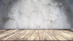 Muro di cemento e pavimento di legno illustrazione vettoriale