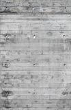 Muro di cemento grigio con il modello in rilievo di legno Fotografia Stock Libera da Diritti