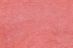 Muro di cemento rosso con il reticolo approssimativo Fotografia Stock Libera da Diritti