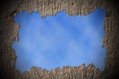Muro di cemento rotto Immagini Stock Libere da Diritti