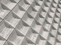Muro di cemento vuoto astratto, modello 3d Fotografia Stock Libera da Diritti