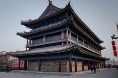 muro di cinta antico nella dinastia Tang della città della Cina nella provincia di Shanxi Fotografia Stock Libera da Diritti