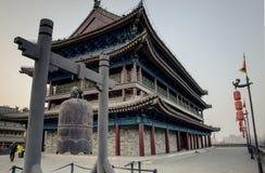 muro di cinta antico nella dinastia Tang della città della Cina nella provincia di Shanxi Immagini Stock Libere da Diritti