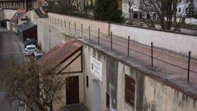 Muro di cinta del centro città antico di noerdlingen fotografia stock