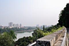 Muro di cinta di Nanchino nella dinastia Ming Fotografia Stock Libera da Diritti
