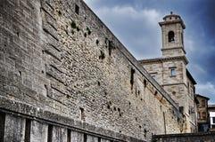Muro di cinta di San Marino Fotografie Stock Libere da Diritti