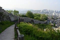 Muro di cinta di Seoul di estate Fotografia Stock Libera da Diritti