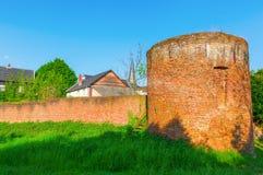 Muro di cinta storico di Bedburg alt-Kaster, Germania Immagini Stock Libere da Diritti