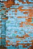Muro di mattoni afflitto Fotografia Stock