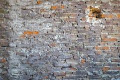 Muro di mattoni affumicato sporco Immagine Stock Libera da Diritti