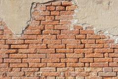 Muro di mattoni antico Immagini Stock