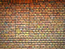 Muro di mattoni arancio Immagine Stock