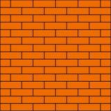 muro di mattoni arancio per l'insegna del fondo illustrazione vettoriale