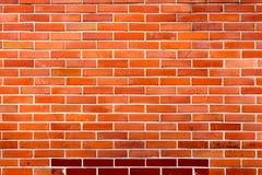 Muro di mattoni arancio rosso per fondo 6 Fotografia Stock Libera da Diritti