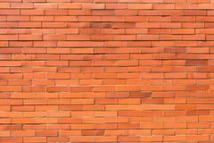 Muro di mattoni arancio rosso per fondo 1 Fotografia Stock Libera da Diritti
