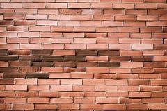 Muro di mattoni arancio rosso per fondo 2 Immagini Stock