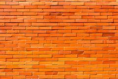 Muro di mattoni arancio rosso per fondo 1 Immagine Stock
