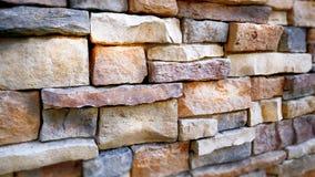 Muro di mattoni assortito variopinto fotografia stock