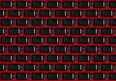 Muro di mattoni astratto del fondo dell'estratto del fondo di Microw rosso Immagini Stock Libere da Diritti