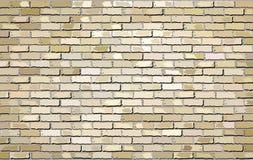 Muro di mattoni beige di massima Fotografia Stock Libera da Diritti