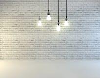Muro di mattoni in bianco Fotografia Stock Libera da Diritti