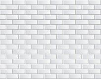 Muro di mattoni bianco di vettore senza cuciture - modello del fondo Immagini Stock