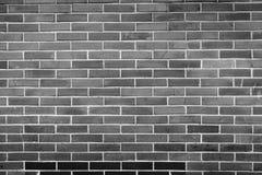 Muro di mattoni in bianco e nero per fondo 7 Fotografia Stock Libera da Diritti