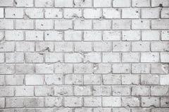 Muro di mattoni bianco grigio grungy semplice con il fondo senza cuciture di struttura della superficie del modello delle tonalit fotografia stock libera da diritti