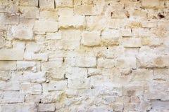Muro di mattoni bianco panna Fotografia Stock Libera da Diritti