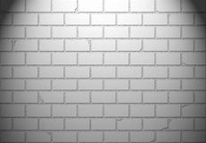 Muro di mattoni bianco per fondo o struttura Immagine Stock