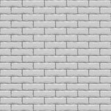 Muro di mattoni bianco senza giunte Immagine Stock Libera da Diritti