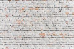 Muro di mattoni bianco strutturato Immagini Stock