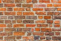 Muro di mattoni di Brown come fondo di lerciume fotografia stock libera da diritti