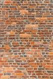 Muro di mattoni di Brown come fondo di lerciume fotografia stock