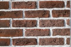 Muro di mattoni di colore rosso immagine stock