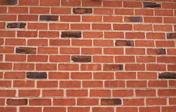 Muro di mattoni con alcuni clinker immagini stock libere da diritti
