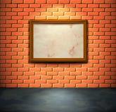 Muro di mattoni con il blocco per grafici Fotografia Stock
