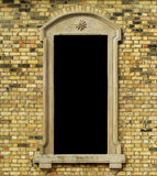Muro di mattoni con il blocco per grafici Immagine Stock